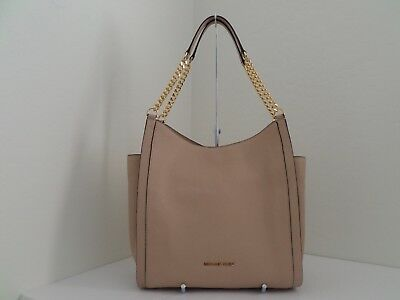 116258e98575 NWT AUTH MICHAEL Kors Newbury Medium Chain Leather Shoulder Tote- 328-Oyster  -  44.00