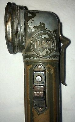 "Original Early WWII US Army Steel TL-122-A Flashlight or Torch ""USA LITE"""