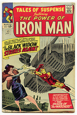JERRY WEIST ESTATE: TALES OF SUSPENSE #53 (Marvel 1964) FN! 2nd Black Widow