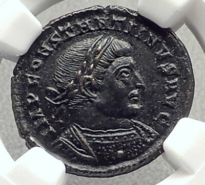 CONSTANTINE I the Great 317AD Trier Authentic Ancient Roman Coin SOL NGC i70631