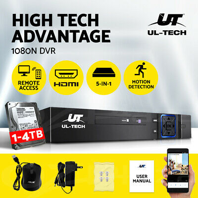 UL-TECH 5 IN 1 8CH DVR AHD NVR HVR Video Recorder CCTV Security System HDMI