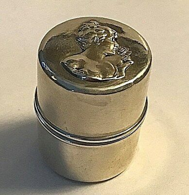 Antique Unger Brothers Sterling Silver Love Dream Maiden Thread Holder #345
