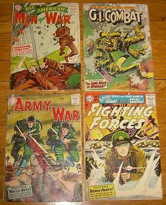 Lot 4 DC All-American Men War #27 GI COMBAT #46 Our Army #56 Fighting Forces #13