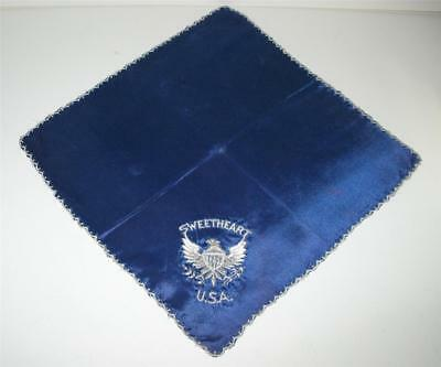 World War II Lace Edge Sweetheart Handkerchief Sent from Europe by a GI