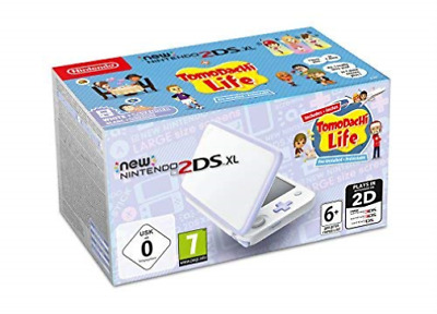3DS-NEW Nintendo 2DS XL Console - White & Lavender with Tomodachi Life  GAME NEW