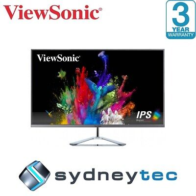 New Viewsonic Ultra-Slim VX3276-2K 32in WQHD IPS LCD Monitor
