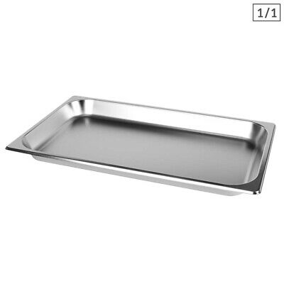 SOGA 1 x Gastronorm GN Pan Full Size 1/1 GN Pan 65mm Deep Stainless Steel Tray