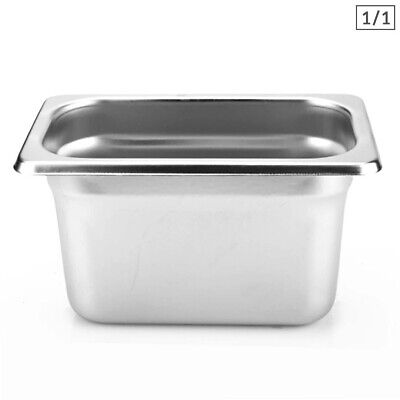 SOGA 1 x Gastronorm GN Pan Full Size 1/1 GN Pan 200mm Deep Stainless Steel Tray