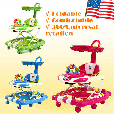 3 In 1 Baby Walker For Kid Toddler Activity Car Toy Infant Walk Learning Play