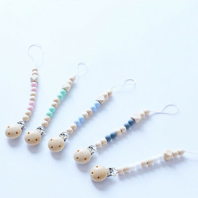 Baby Newborn Boys Girls Pacifier Clip Chain Strap Dummy Soother Nipple Holder x1