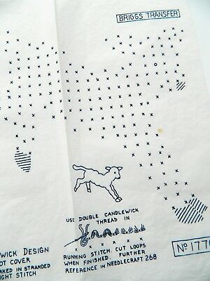 Lamb ~ Candlewick Design ~ Vintage Briggs Embroidery Transfer Sewing Pattern 22