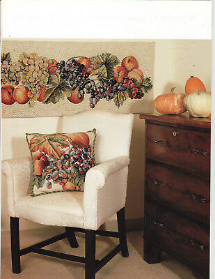 Allfresco Grapes Leaves Elian McCready Tapestry Needlepoint Charts in Colour