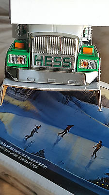 hess truck 1987 gold bumper ,grill in very good shape ,box in good shape,