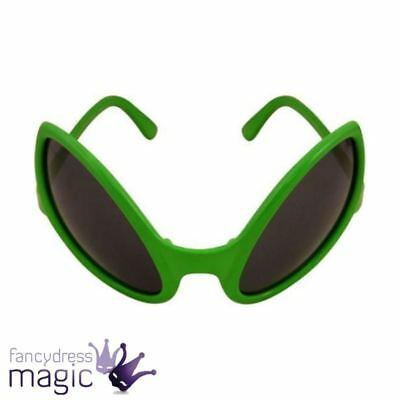 Alien Glasses Fancy Dress Accessory Bug Eyes Eye Sunglasses Shades Green Monster