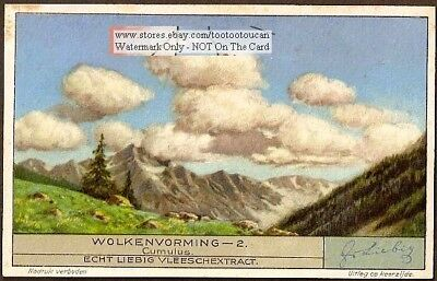 Cumulus Clouds Weather Meteorology 1920s Trade Ad Card