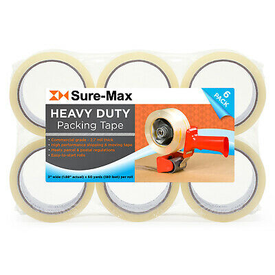 """2"""" Heavy-Duty 2.7mil Clear Shipping Packing Moving Tape 60 yards/180' ea"""