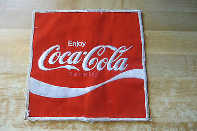 Original soda pop advertising HUGE Enjoy Coca-Cola trade mark route driver patch