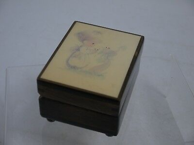 Reuge Wooden Child's Clockwork Music Box Playing Brahms Lullaby (JMW138)