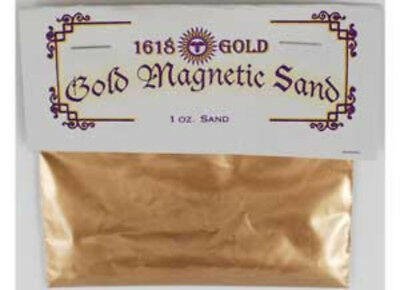 NEW Gold Magnetic Sand (Lodestone Food) 1oz Empower Spells Money Drawing Success