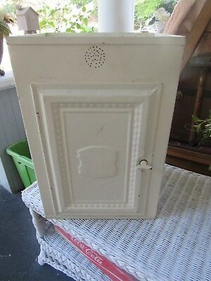 Vintage Metal Cabinet   LOCAL PICK UP ONLY