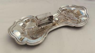 Fine Old Sheffield Plate Figure Of 8 Snuffer Tray With Rare Fused Plate Snuffers