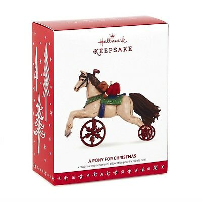 2016 A Pony for Christmas 19th in Series Hallmark Velocipede Ornament NIB