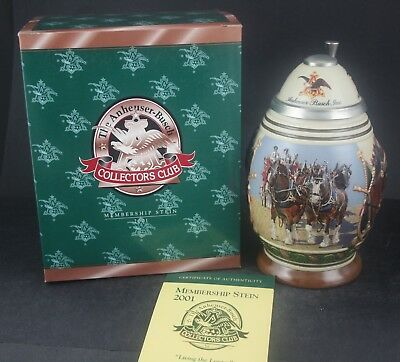 2001 Budweiser Collectors Club Living the Legacy Members Only Stein CB17 (183)