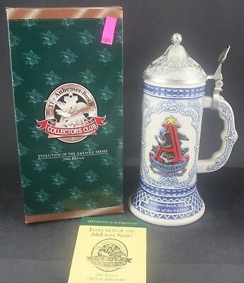 2002 Budweiser Collectors Club A & Eagle Series Members Only Stein CB23 (185)