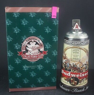 2003 Budweiser Collectors Club Historical Advertising Members Stein CB24 (186)