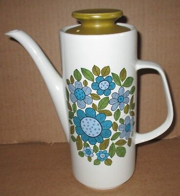 J & G Meakin Studio Topic Tall Vintage Coffee Pot Excellent
