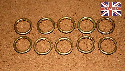 10 BRASS CLOCK FACE / KEYHOLE  GROMMETS. 12mm. FREE POSTAGE. BARGAIN!!!!