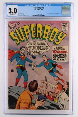 Superboy #68 - CGC 3.0 GD/VG - DC 1958 -Superman- 1st App & ORIGIN of Bizarro!!!