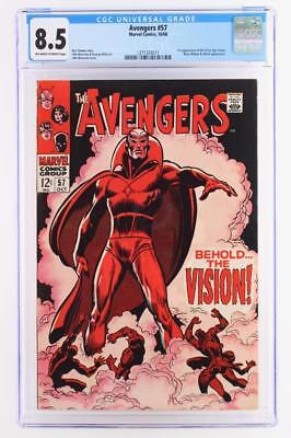 Avengers #57 - CGC 8.5 VF+ Marvel 1968 - 1st App of the Silver Age Vision!!!