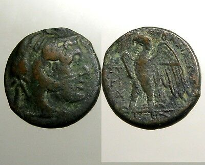 PTOLEMY I BRONZE AE21___Ancient Egypt___GENERAL OF ALEXANDER THE GREAT___Eagle