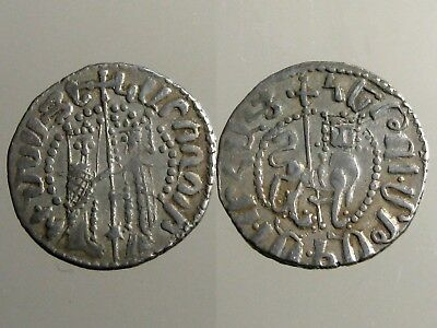 CILICIAN ARMENIA SILVER TRAM_____Strong Ally of the Crusaders_____MEDIEVAL LION