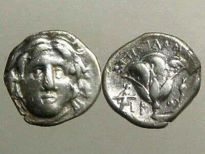 RHODOS CARIA SILVER HEMIDRACHM__Helios & Rose__304-167 BC___HOME OF THE COLOSSUS