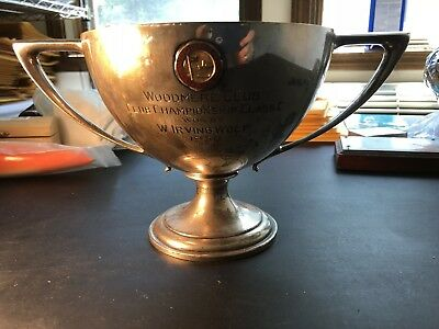 1930 Woodmere Club Championship Classic Sterling Silver Golf Trophy #SP039 429g