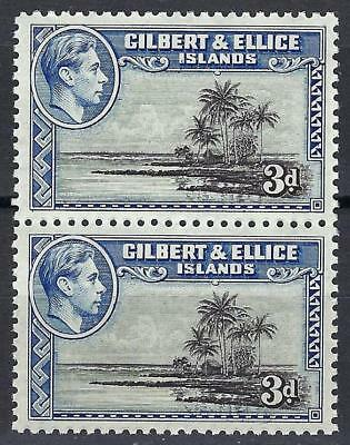 Gilbert & Ellice Islands 1939 Sc# 45 Seascape George GB colony pair MNH