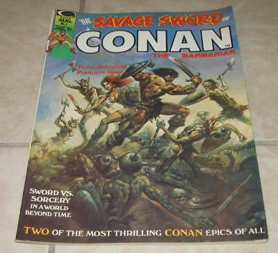 1974 Curtis The Savage Sword Of Conan The Barbarian Magazine Number 1 #1