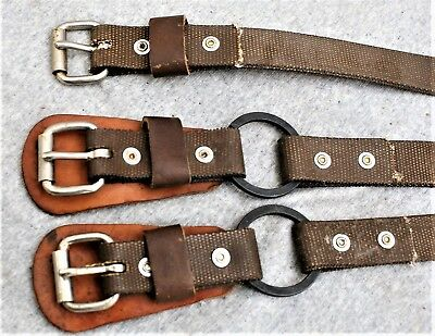 "3 New 26"" X 1"" Leg Straps For Lineman, Tree And Pole Climbers  / Kline"