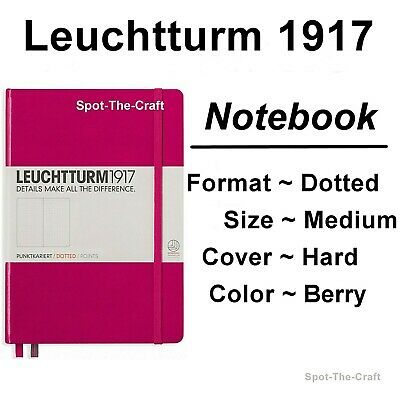 Leuchtturm1917 Dotted Journal Notebook Medium A5 Berry Pink 344809