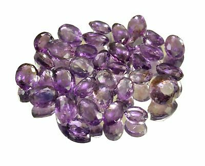 Natural Purple Amethyst Faceted Loose Gemstone Wholesale Lot For Ring Size