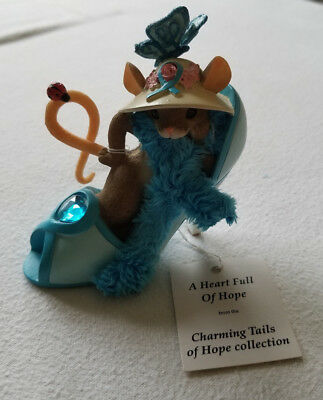 "CHARMING TAILS FIGURINE ""A HEART FULL OF HOPE"" #0362  NO BOX Mouse in Shoe #0512"