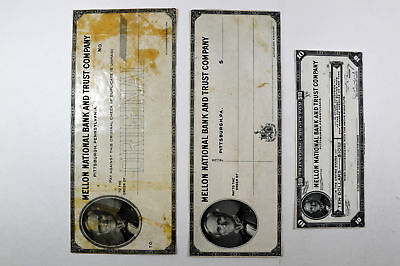 PA. Mellon National Bank & Trust Co c.1920s Proof Check and Travelers Check Trio