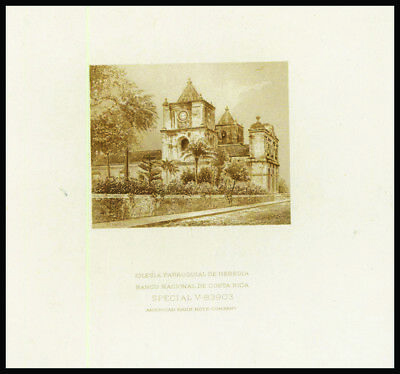 Banco Costa Rica PROOF Church Possibly Used on Banknotes ca.1890-1920 ABNC