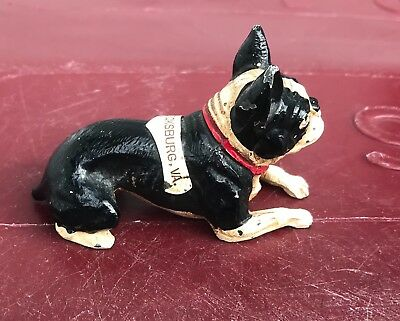 K&O Metal Laying Boston Terrier Dog Fredericksburg VA Souvenir