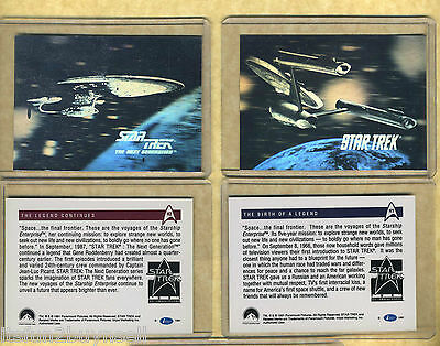 (2) 1991 STAR TREK 25 Th ANNIVERSARY HOLOGRAM #H1 & H2 RARE ENTERPRISE