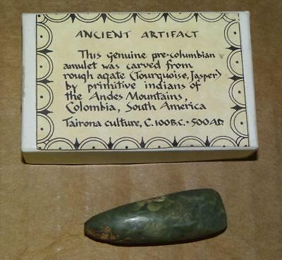 ca100 B.C. - 500 A.D. TAIRONA CULTURE Pre-COLUMBIAN ANCIENT Carved Agate AMULET
