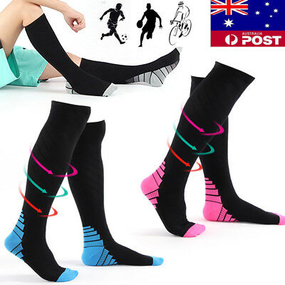 1-3 Pair Miracle Copper Compression Socks Anti Fatigue Unisex Travel DVT Comfort