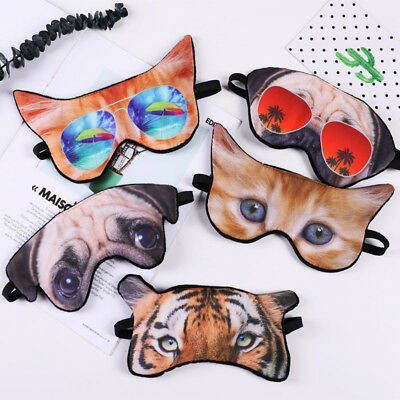 Cute 3D Funny Animal Sleep Rest Eye Shade Sleeping Mask Cover Soft Eye Masks